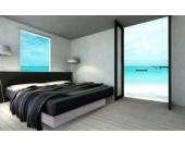 Ocean Duo Wasserbett, 180 x 200 cm, weiß, F6