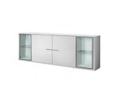 Esszimmer Anrichte mit Glastüren Weiß