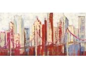 Bild Abstract Skyle - Digital-Fine-Art-Druck auf Leinen - 50 x 100 cm, Artland