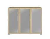 Highboard Gallery - 3-türig - Ahorn Dekor/Floatglas, Arte M